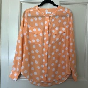 Equipment orange flower blouse